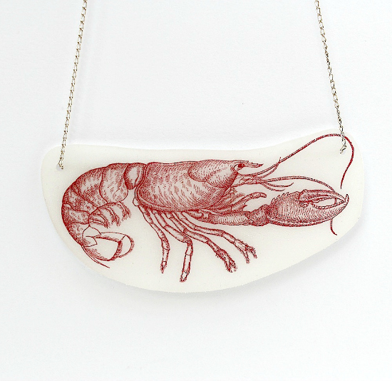 Shrinky Dink Necklace with Lobster - Reader Featured Project