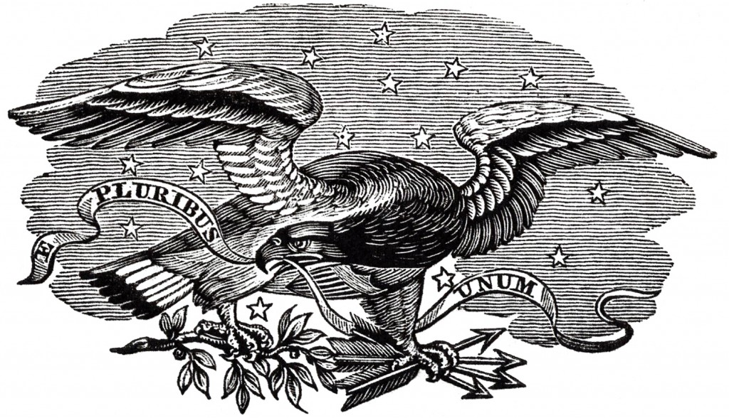 Antique Patriotic Eagle Image