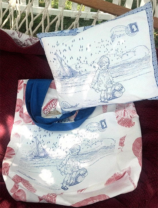 Beach Bag Tote and Pillow - Reader Featured Project