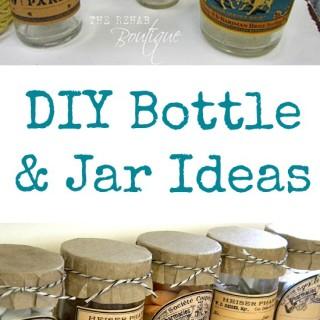 DIY Bottle and Jar Ideas