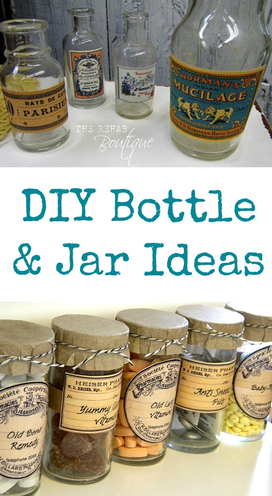 Diy bottle and jar ideas the graphics fairy for Diy bottles and jars