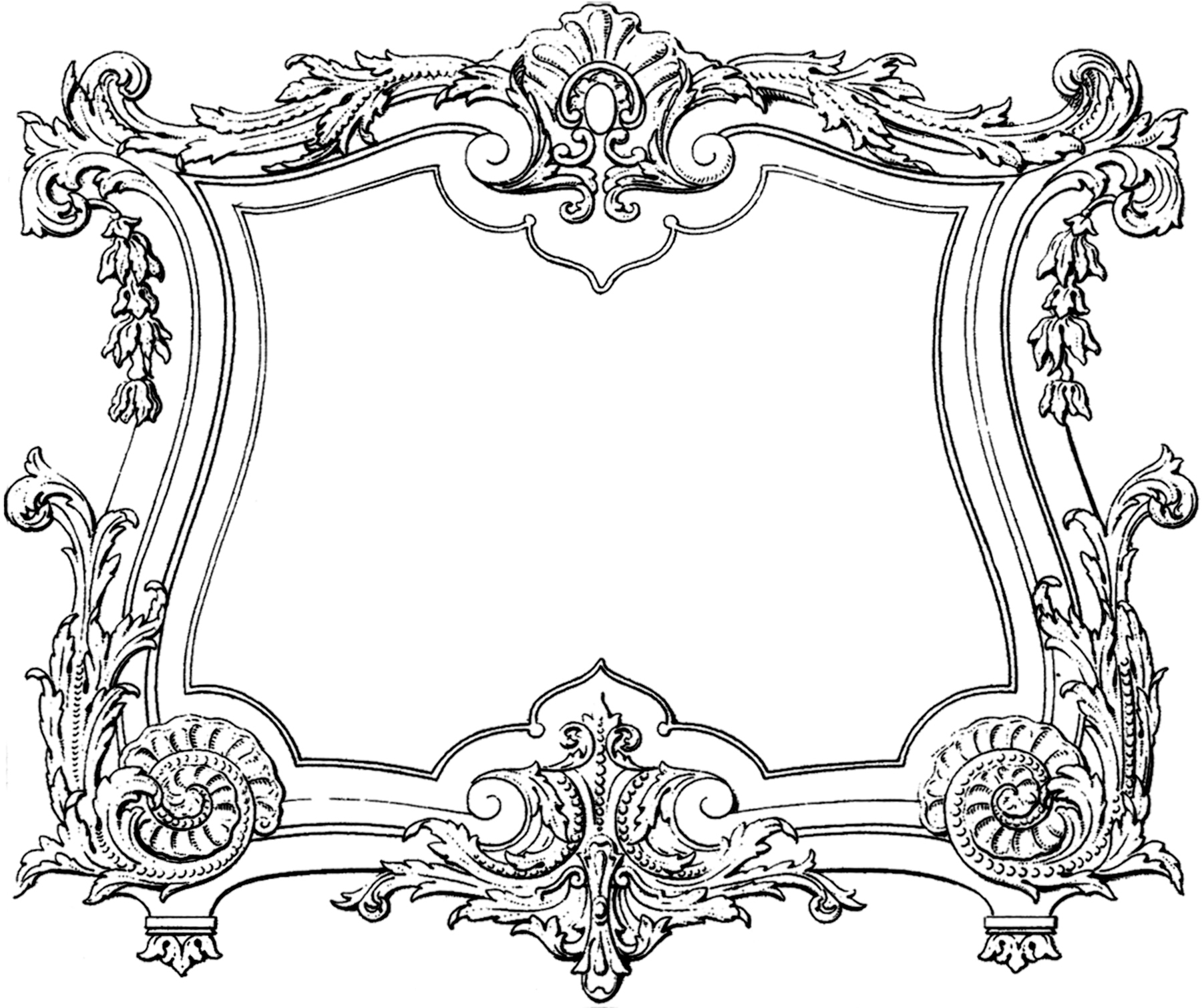 decorative french frame image - Decorative Frames