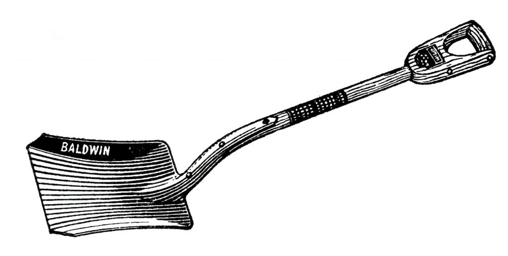 Free Vintage Shovel Clip Art