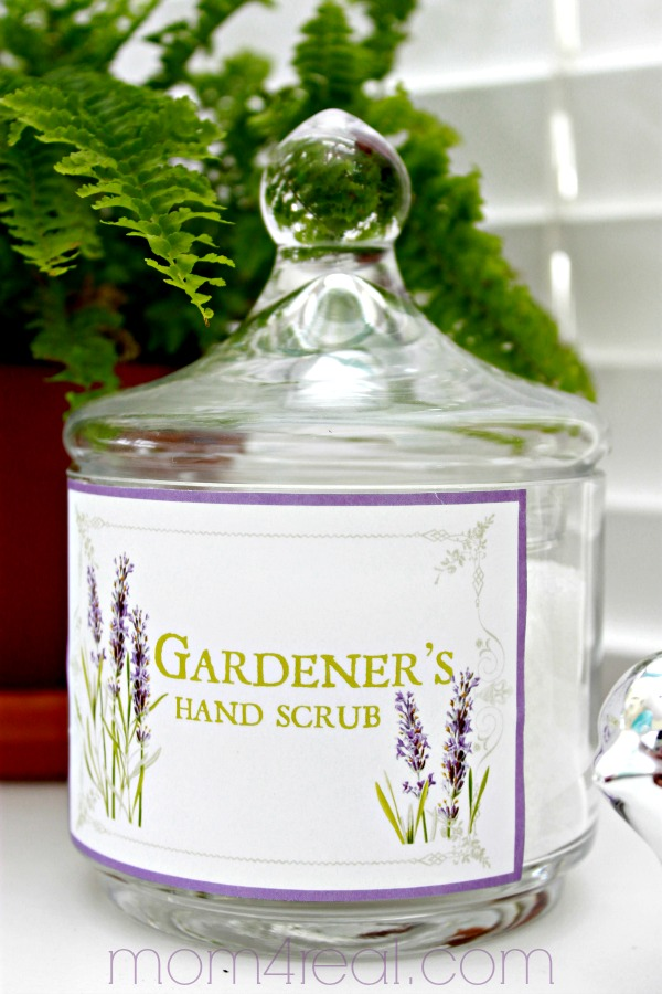 Heavenly Gardener's Hand Scrub Recipe with Free Printable Labels