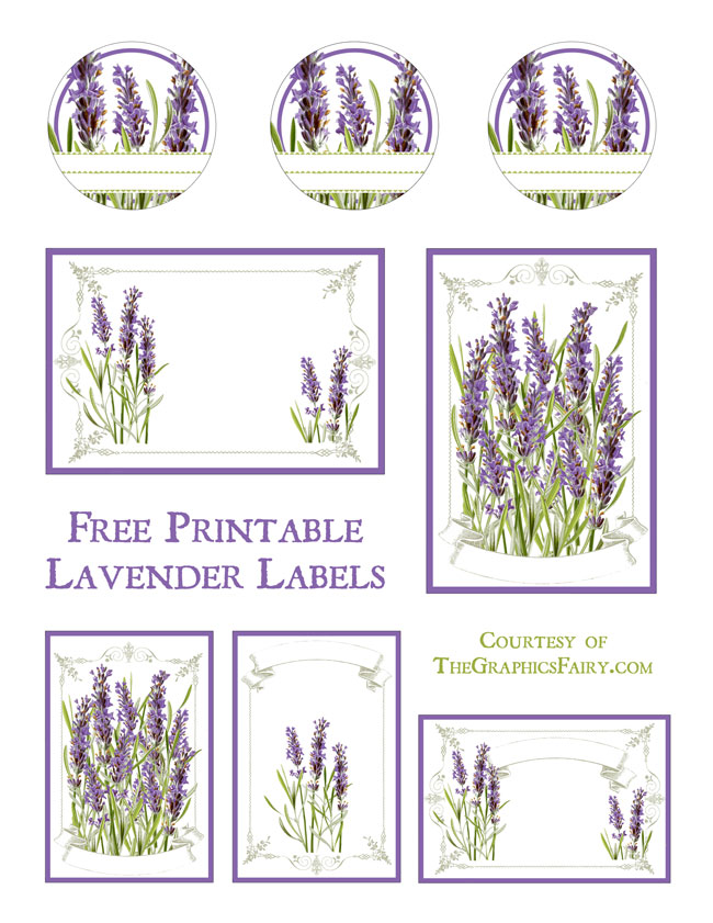 lavender labels printable   the graphics fairy