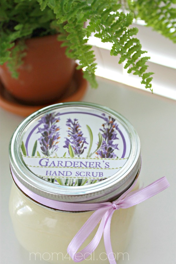 Lavender Hand Scrub with Free Printable Labels