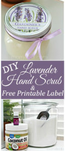 Lavender Hand Scrub with Printable Labels