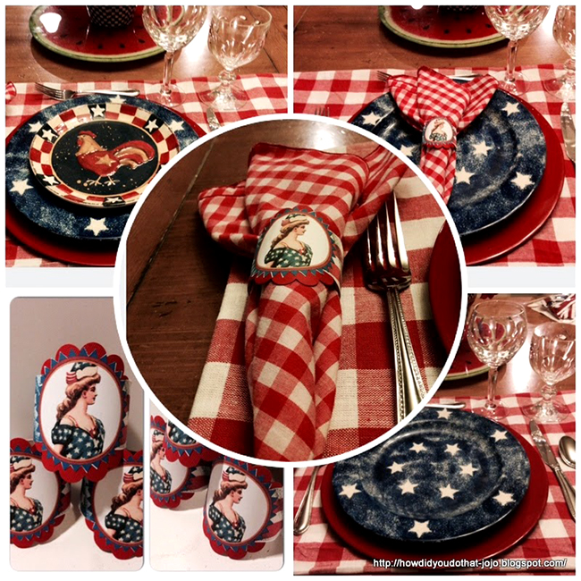 Homemade Patriotic Napkin Rings - Reader Featured Project