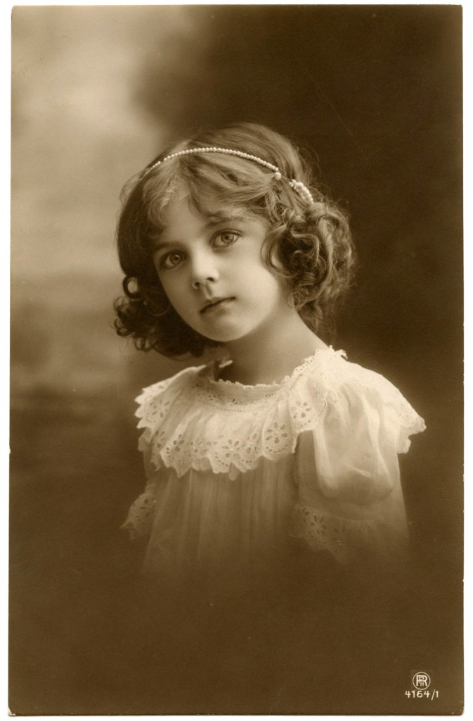 Pretty Antique Child Photo