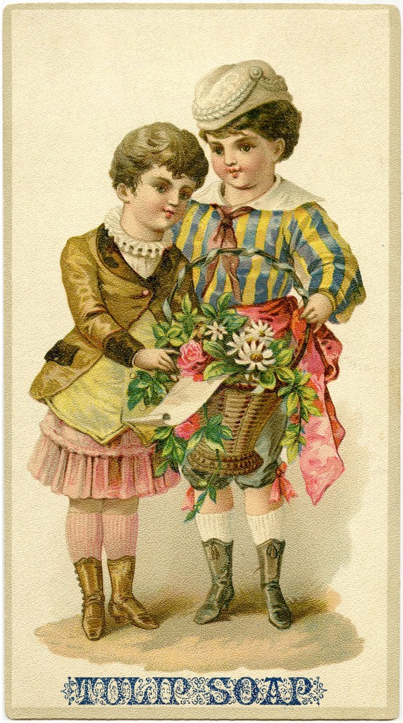 Tulip Soap Advertising Card