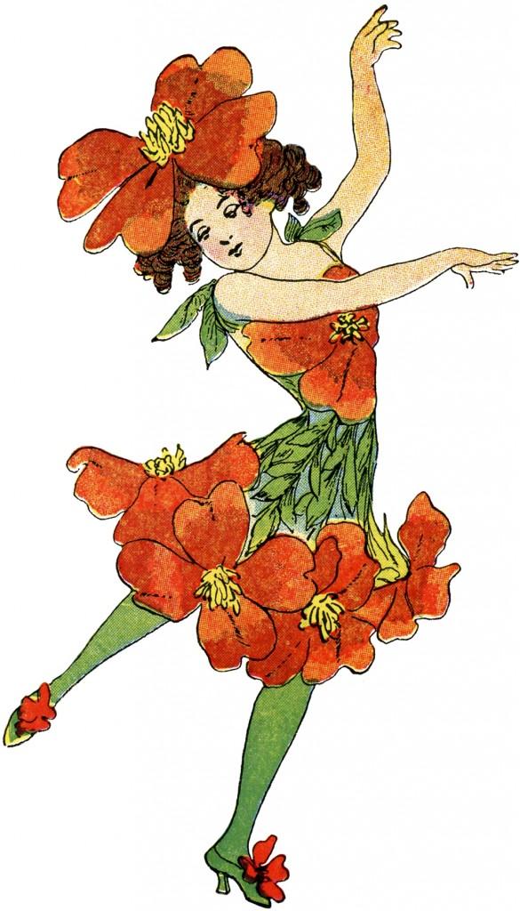 Vintage Flower Fairy Image