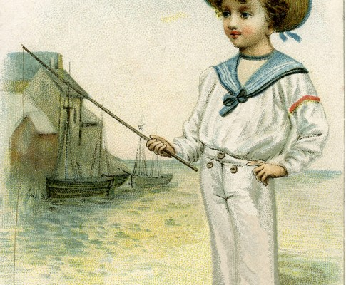 Vintage Sailor Boy Picture – Darling!