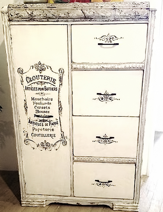 Painted French Armoire   Reader Featured Project