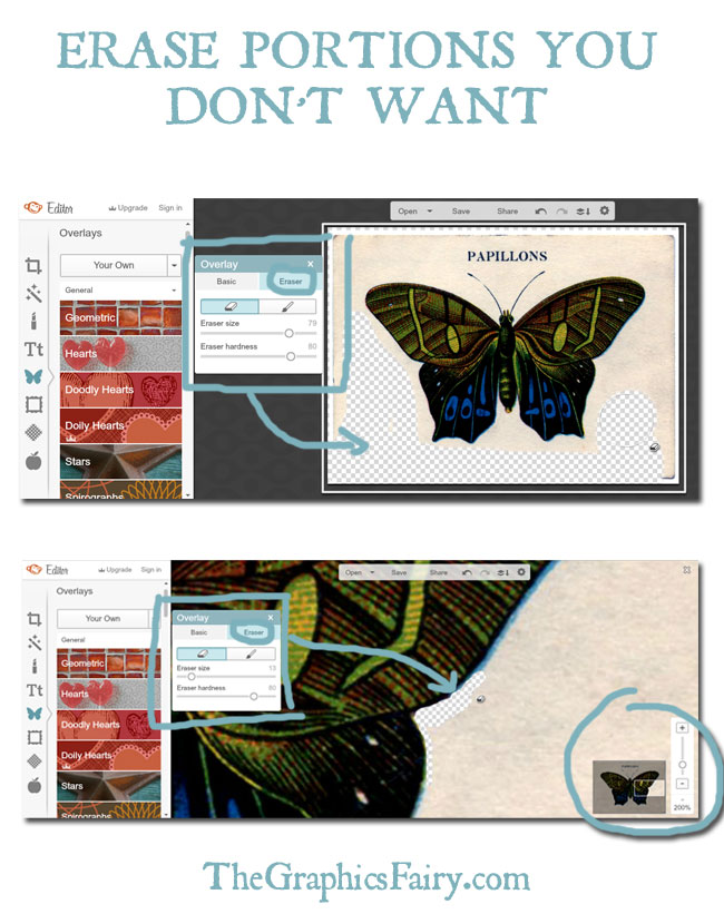 Make a Transparent Background Using PicMonkey // The Graphics Fairy