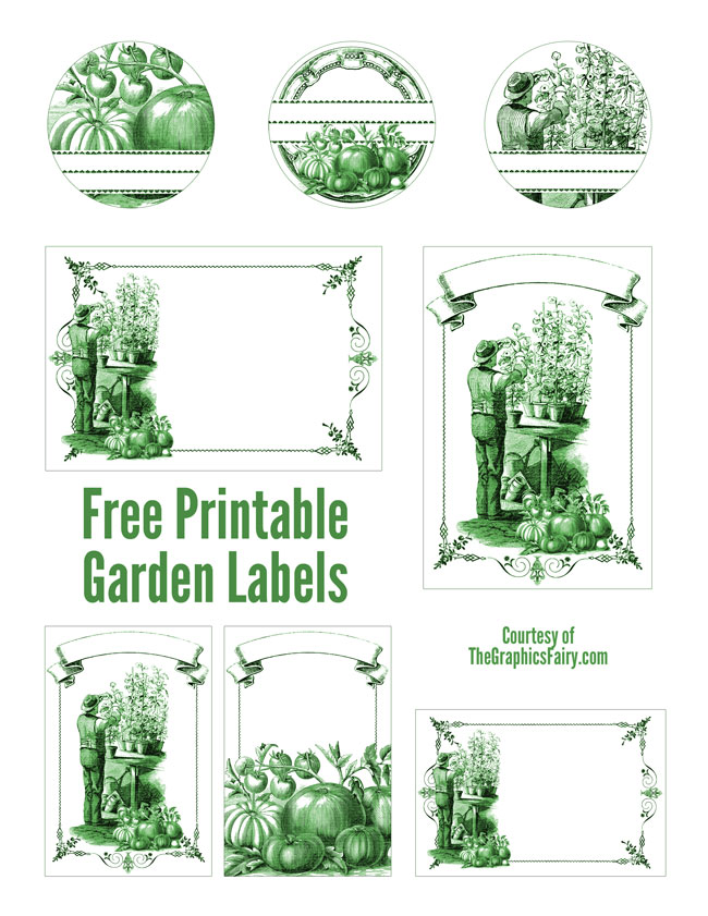 Superior Garden Mason Jar Labels // The Graphics Fairy