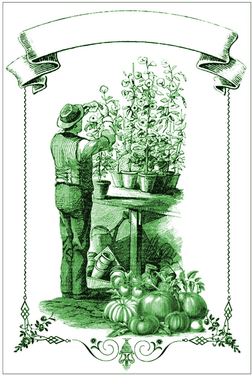 Garden Mason Jar Labels