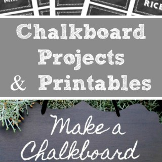 Chalkboard Projects and Printables