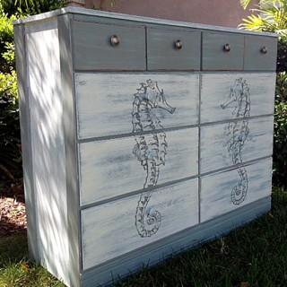 DIY Coastal Style Dresser