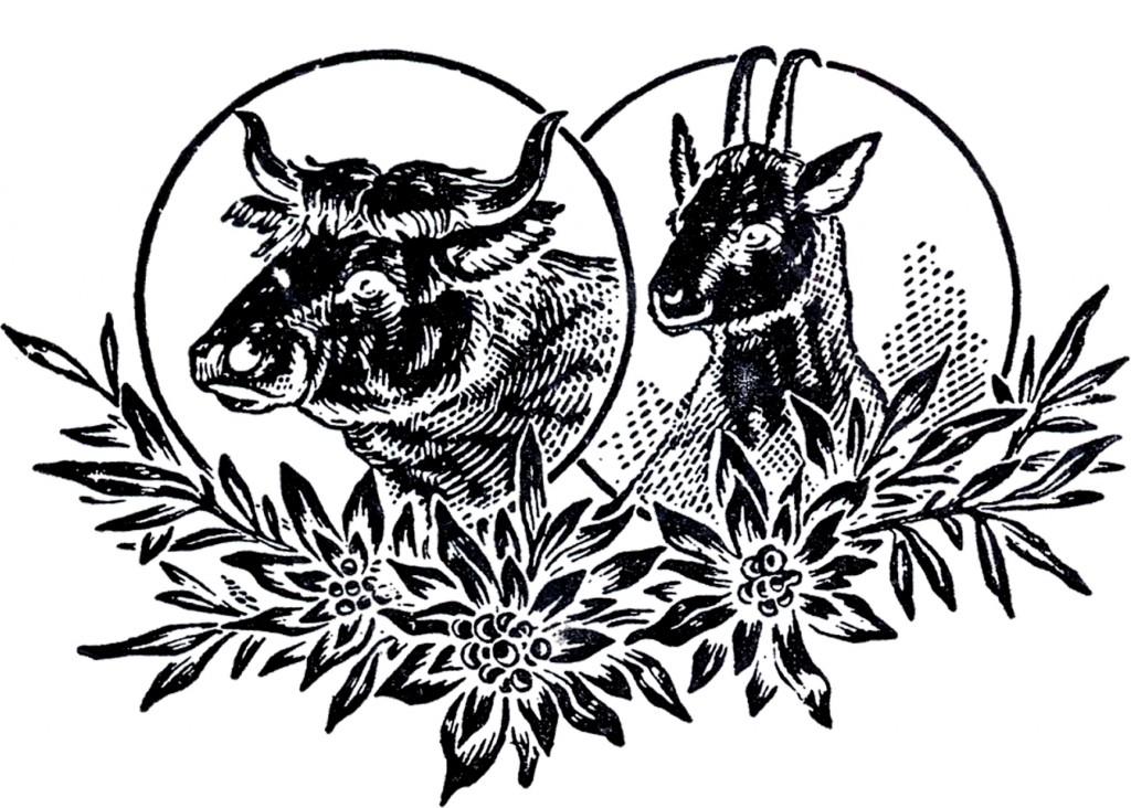 Stylized Farm Animals Image