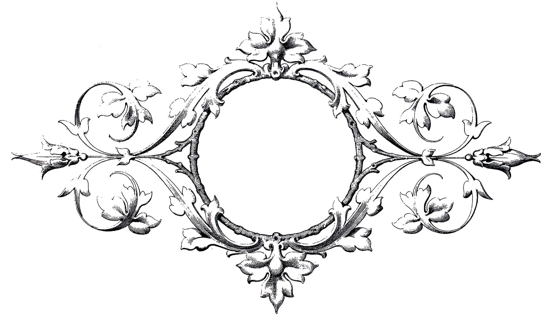 Stunning Scrolls Frame Image! - The Graphics Fairy