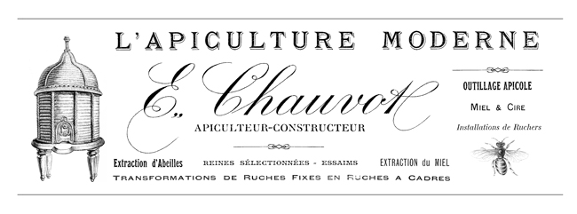 French Beekeeper's Letterhead Transfer  //  The Graphics Fairy