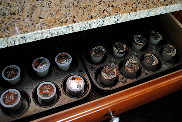Muffin Tin Coffee Organizer