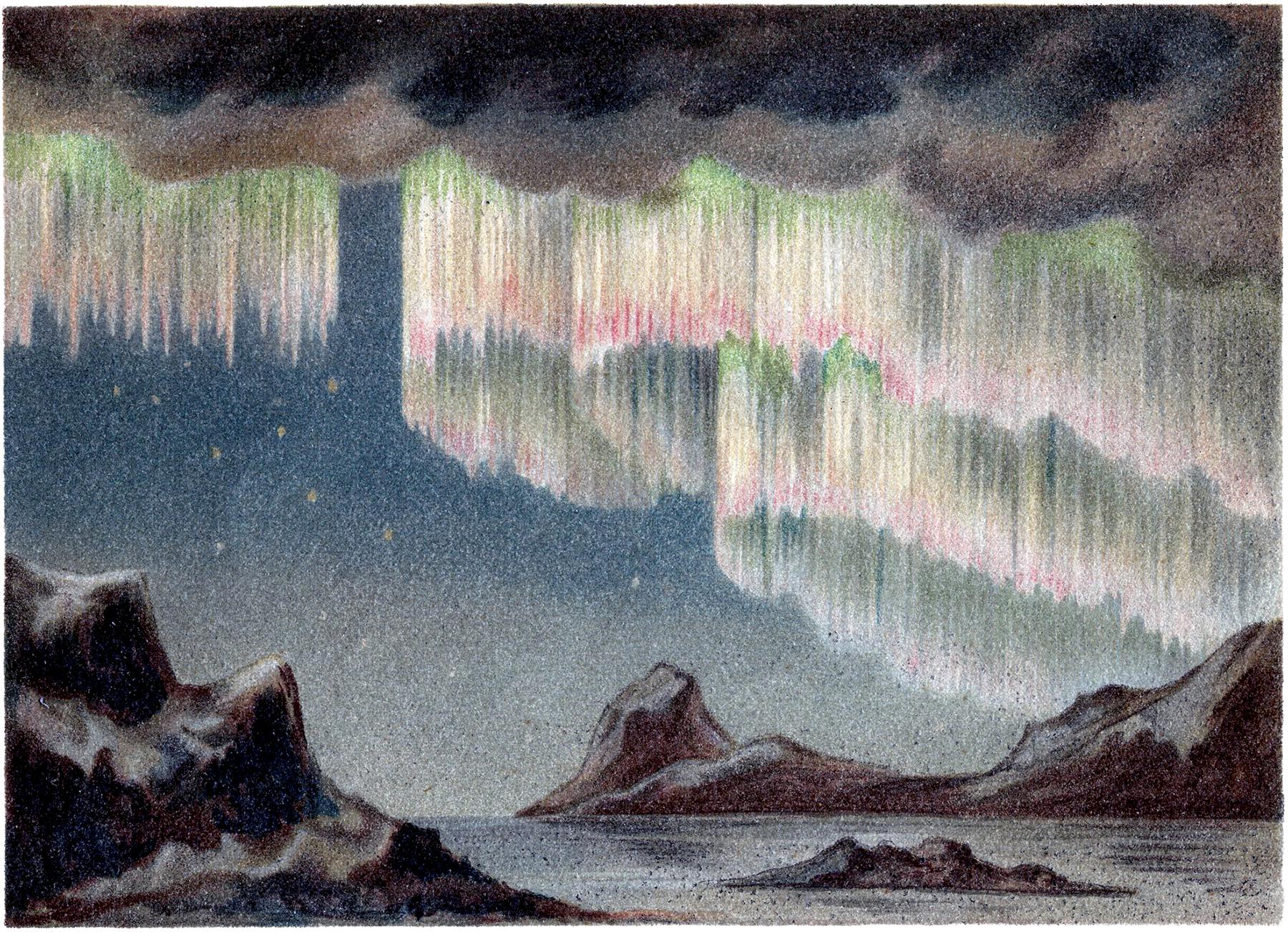Polar Lights Clip Art Aurora Borealis The Graphics Fairy