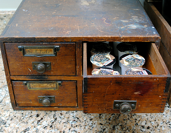 Vintage Coffee Station Drawers