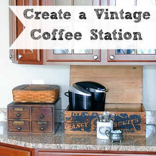 Create a Vintage Coffee Station