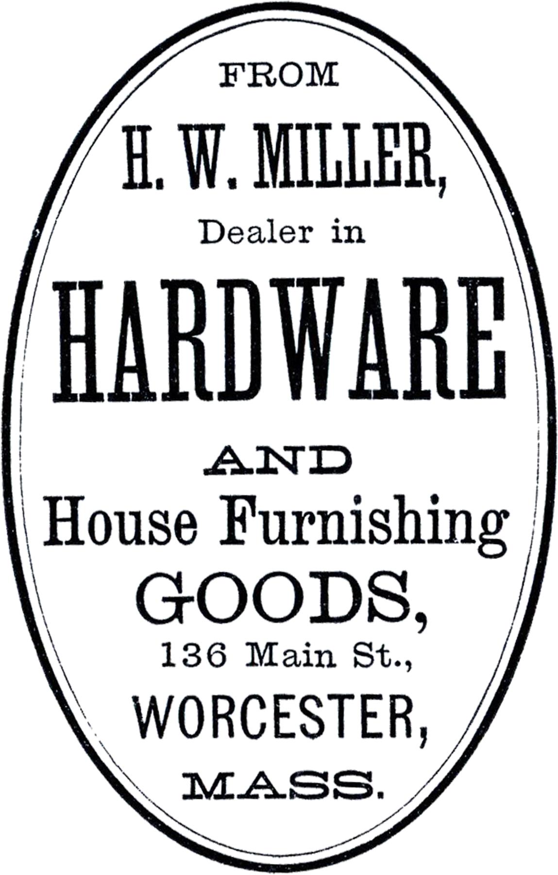 Vintage Hardware Label