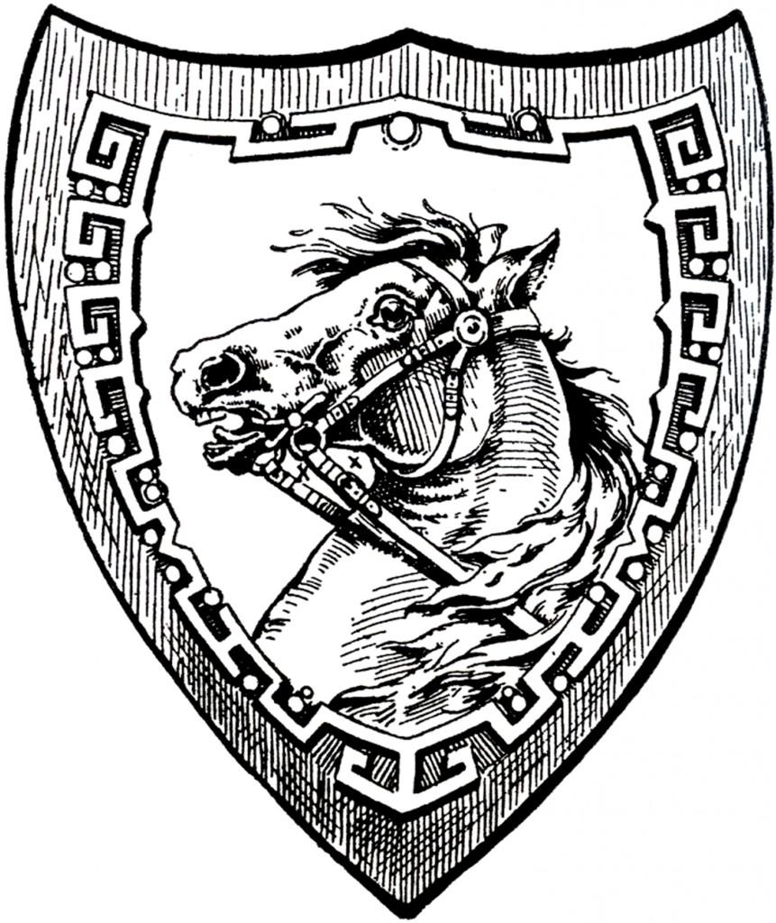 Vintage Horse Shield Image