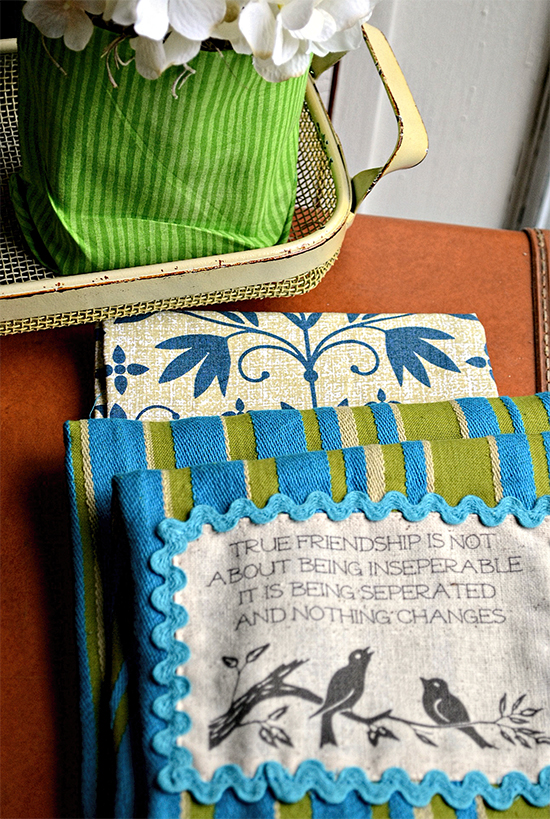 Homemade Dish Towels - Reader Featured Project
