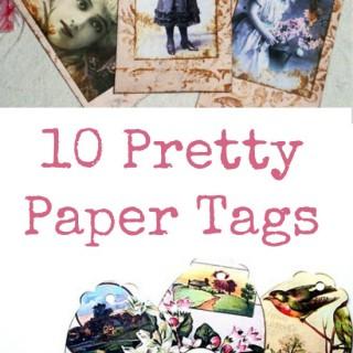 10 Pretty Paper Tags