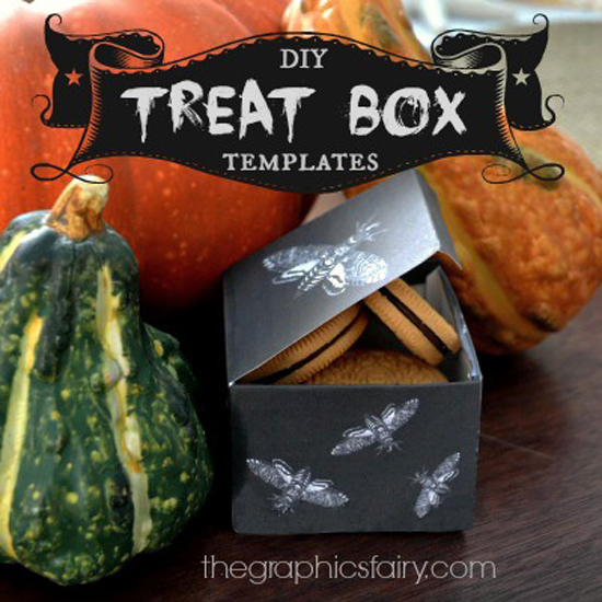 DIY Printable Halloween Treat Boxes