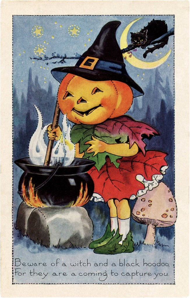 loving pumpkin witch