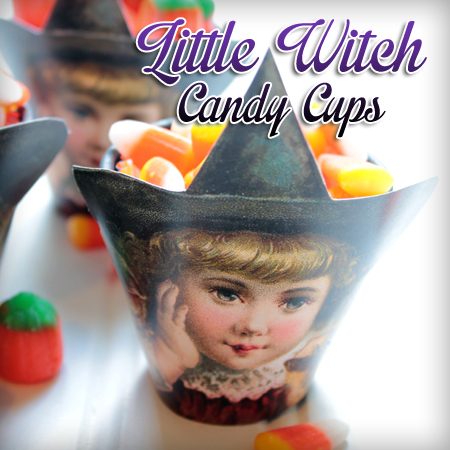 DIY Printable Halloween Candy Cups Party Idea