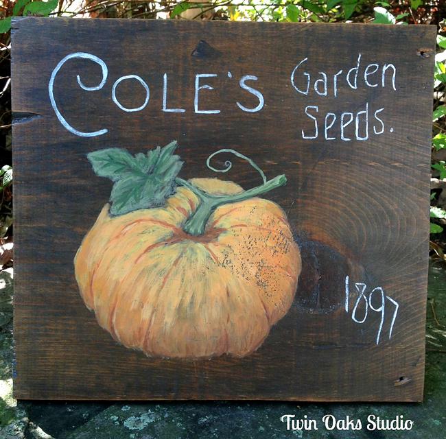 Painted Pumpkin Sign