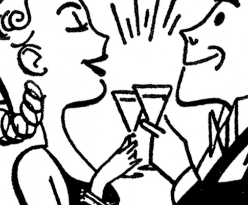 Fun Retro Happy Hour Clip Art!