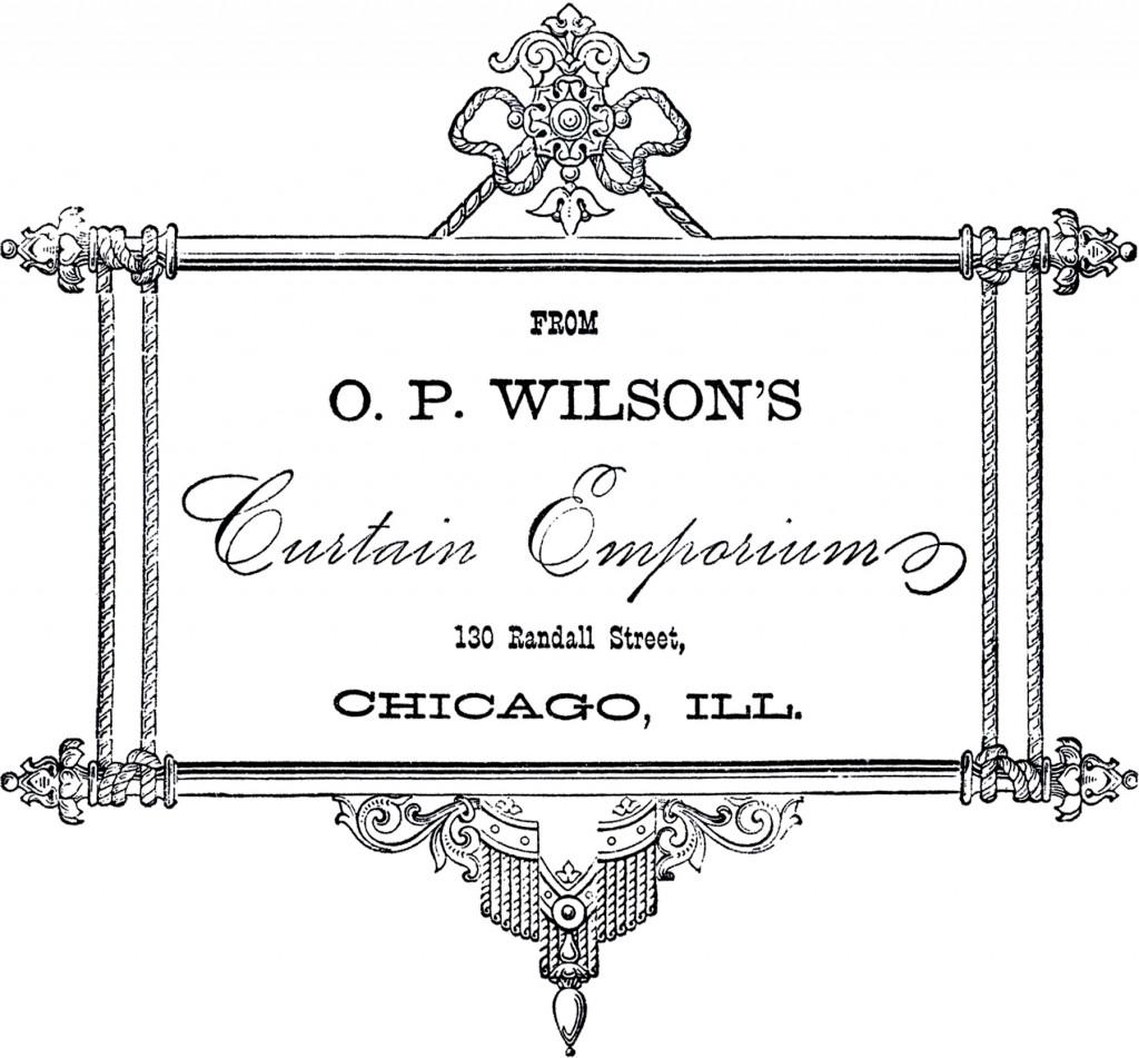 Vintage Curtain Emporium Label