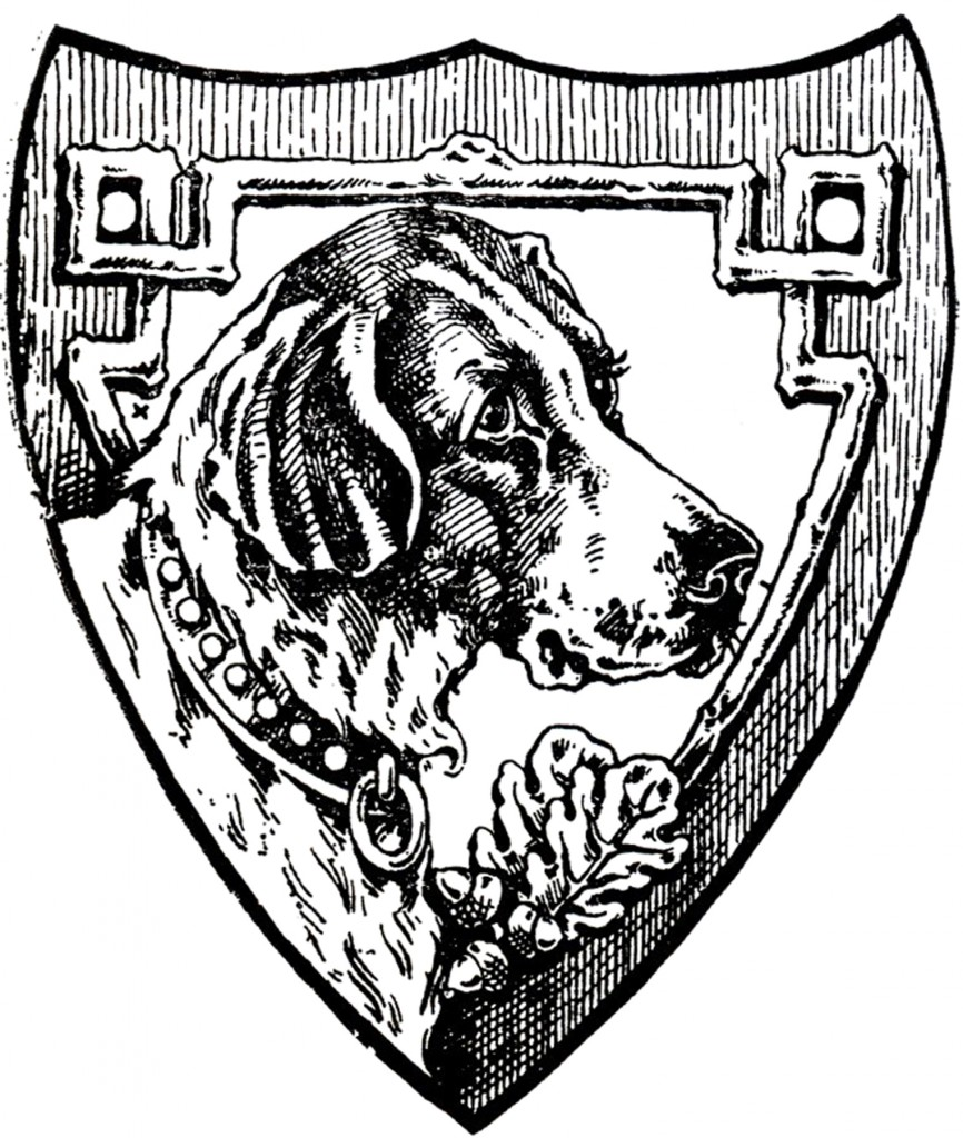 Vintage Dog Shield Image