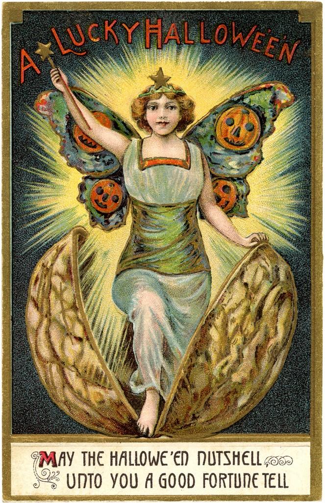 Vintage Halloween Fairy Image