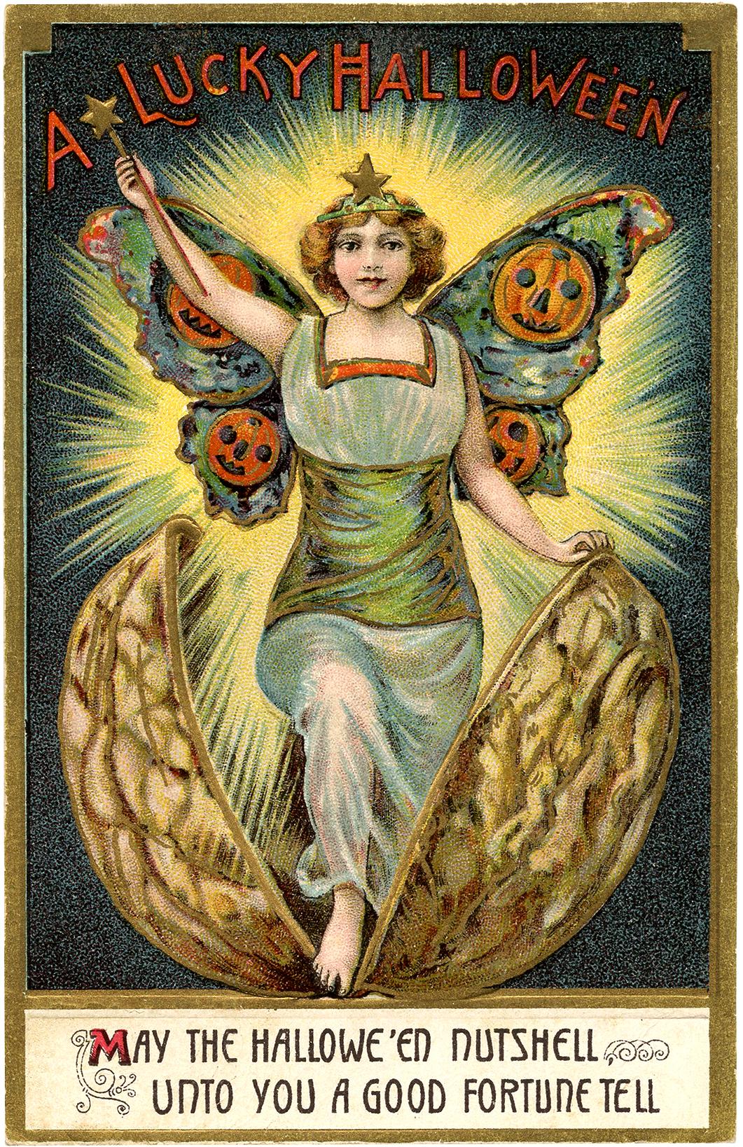 Amazing Vintage Halloween Fairy Image! - The Graphics Fairy
