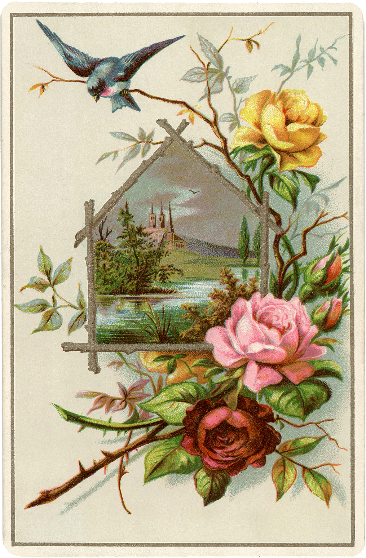 pretty vintage roses picture the graphics fairy