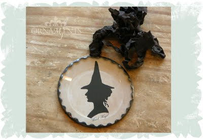 Soldered Ornament with Witch Silhouette
