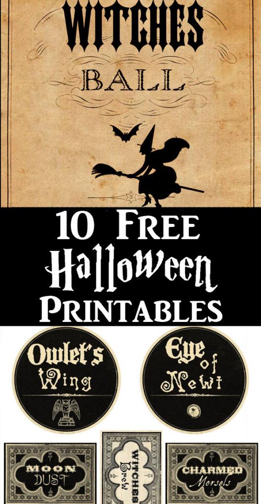 Free Halloween Printables Pinterest Graphic