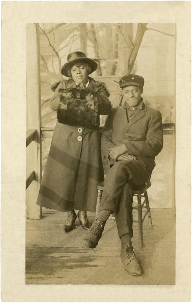 Antique Photo Black Couple