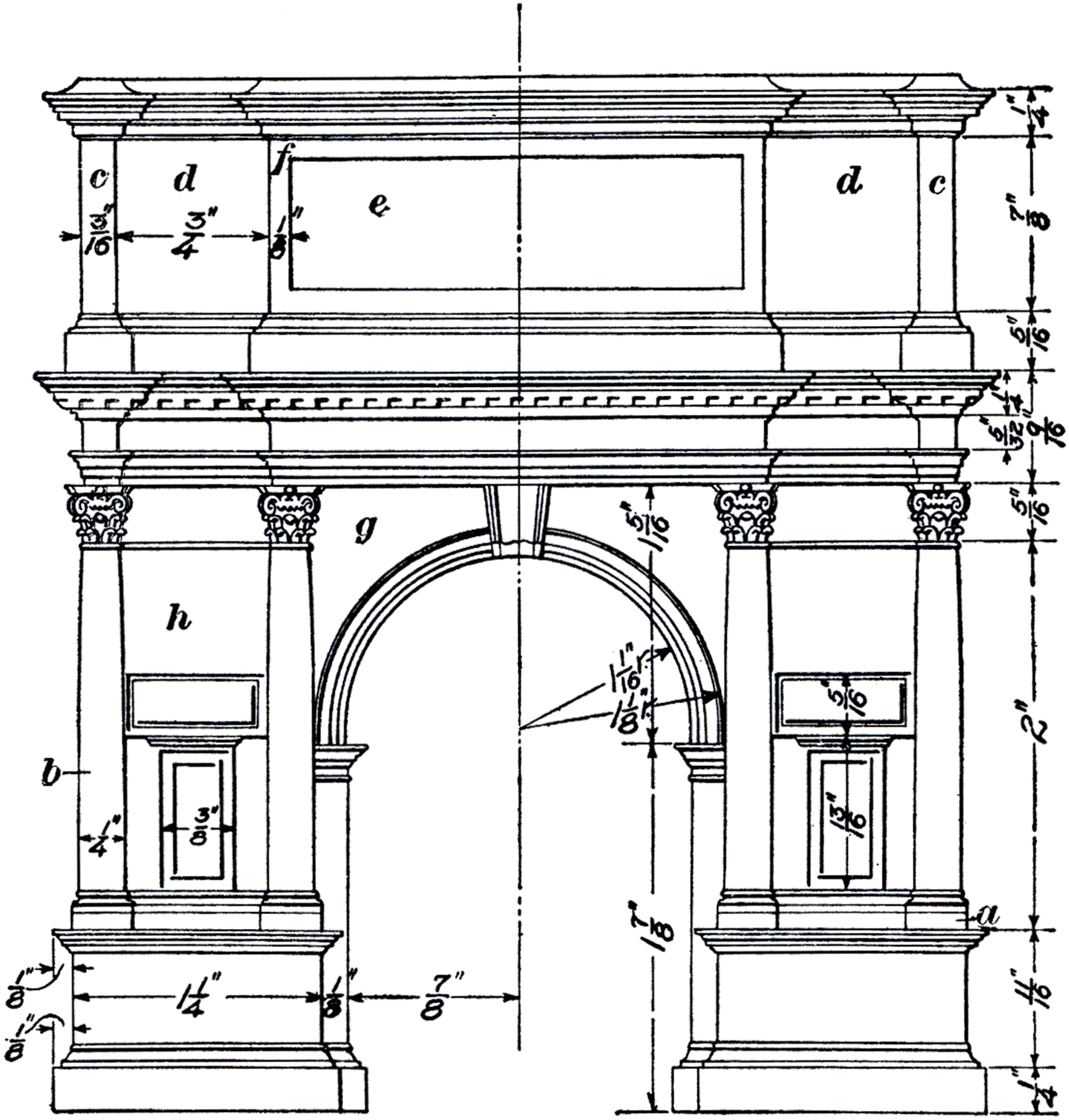 Architectural Arch Diagram Image