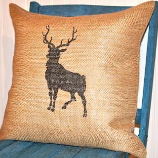 Burlap Reindeer Pillow – Reader Featured Project