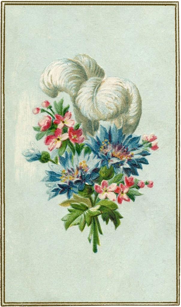 Digital Freebie Feather Flower Image