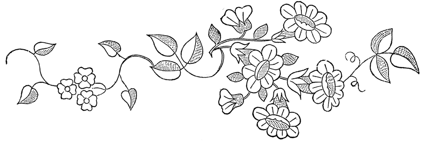 Floral embroidery patterns pretty the graphics fairy floral embroidery patterns jeuxipadfo Choice Image